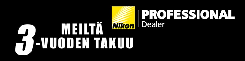 Nikon 3-vuoden takuu
